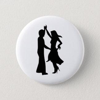 Standard dancing couple 6 cm round badge