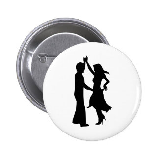 Standard dancing couple 6 cm round badge