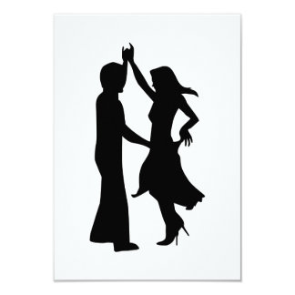 Standard dancing couple invite