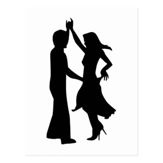 Standard dancing couple postcard