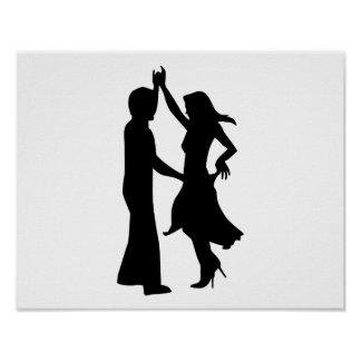 Standard dancing couple poster