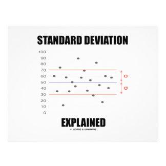 Standard Deviation Explained 21.5 Cm X 28 Cm Flyer