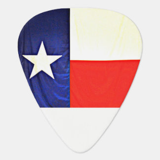 Standard Guitar Pick of Texas Flag