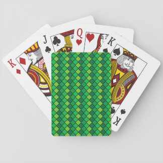 Standard Index Playing Cards Green Diamond Checked