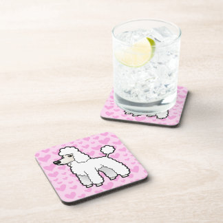 Standard / Miniature / Toy Poodle Love Drink Coasters