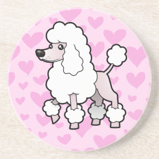 Standard/Miniature/Toy Poodle Love (show cut) Beverage Coasters