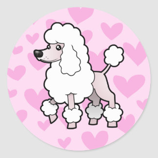 Standard/Miniature/Toy Poodle Love (show cut) Classic Round Sticker