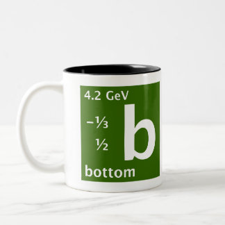 Standard Model (bottom quark) Two-Tone Coffee Mug