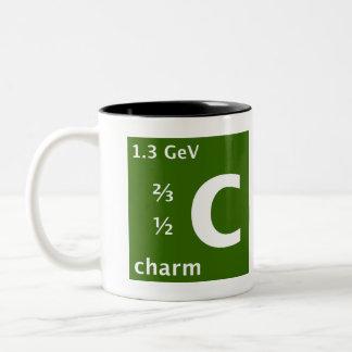 Standard Model (charm quark) Two-Tone Coffee Mug