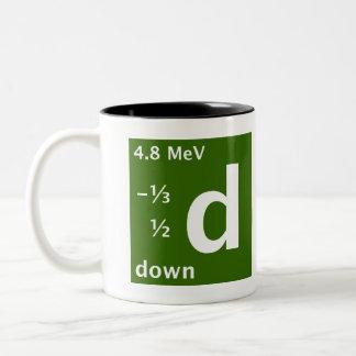 Standard Model (down quark) Two-Tone Coffee Mug