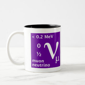 Standard Model (muon neutrino) Two-Tone Coffee Mug