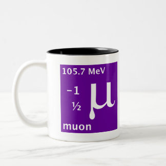 Standard Model (muon) Two-Tone Coffee Mug