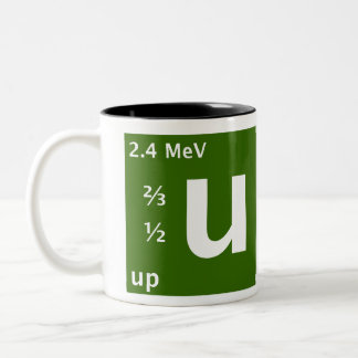 Standard Model (up quark) Two-Tone Mug