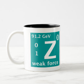 Standard Model (z weak force) Two-Tone Coffee Mug