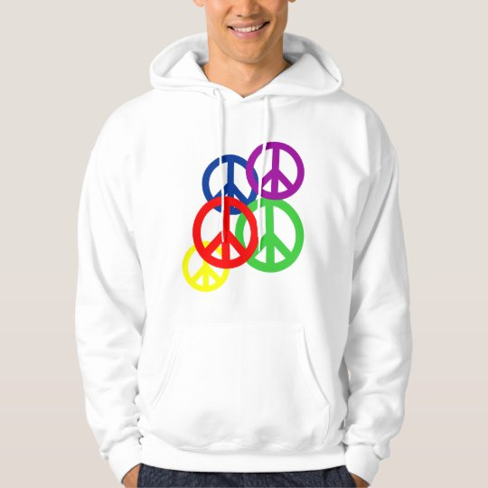 Standard Peace Symbol with rainbow grouping Hoodie