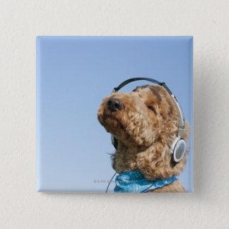 Standard Poodle 15 Cm Square Badge