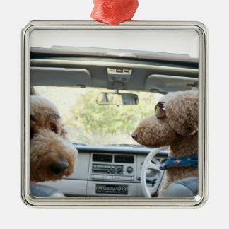 standard poodle christmas ornament