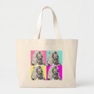 Standard Poodle Does Pastel Large Tote Bag
