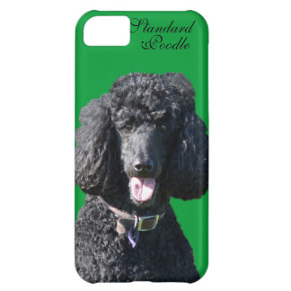 Standard Poodle dog black beautiful photo portrait iPhone 5C Case