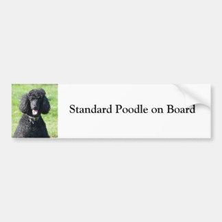 Standard Poodle on board custom bumper sticker Car Bumper Sticker