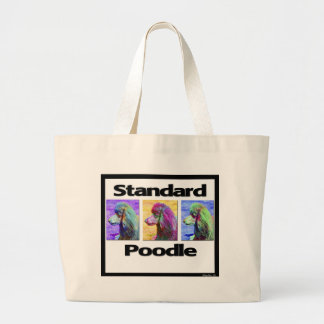 Standard Poodle Pop Art Large Tote Bag