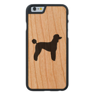 Standard Poodle Silhouette Carved Cherry iPhone 6 Case