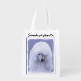 Standard Poodle (White) Reusable Grocery Bag