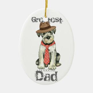 Standard Schnauzer Dad Christmas Ornament