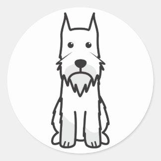 Standard Schnauzer Dog Cartoon Classic Round Sticker