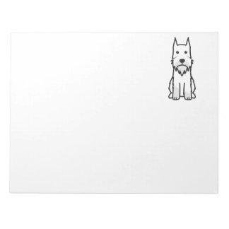 Standard Schnauzer Dog Cartoon Notepad