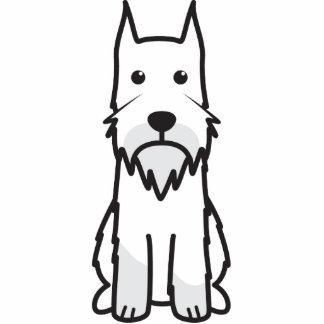 Standard Schnauzer Dog Cartoon Standing Photo Sculpture