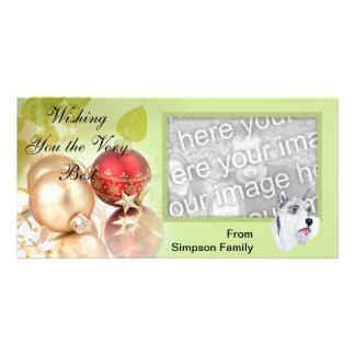 Standard Schnauzer ~ Green Leaves Design Personalised Photo Card