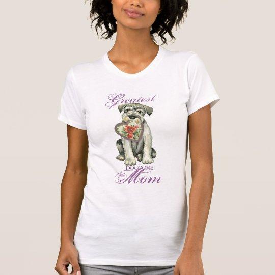 Standard Schnauzer Heart Mum T-Shirt