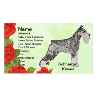Standard Schnauzer - Schnauzer Kisses Business Card