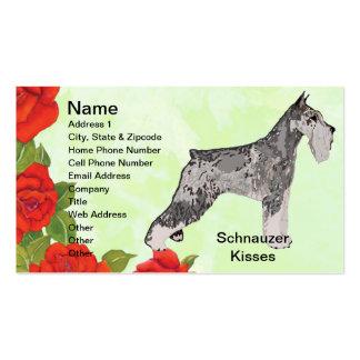 Standard Schnauzer - Schnauzer Kisses Pack Of Standard Business Cards