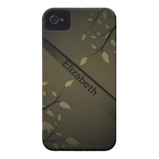 Standard_Steel_patterns_leaves_coffee_design Case-Mate iPhone 4 Case