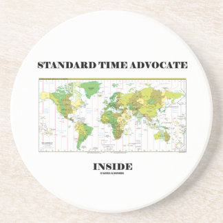 Standard Time Advocate Inside (Time Zones) Drink Coasters