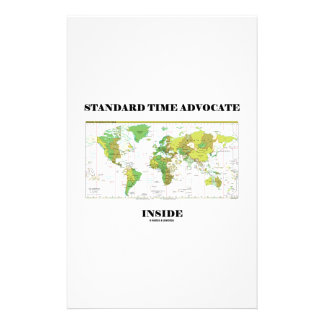 Standard Time Advocate Inside (Time Zones) Stationery