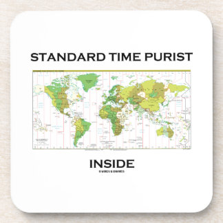 Standard Time Purist Inside (Time Zones World Map) Coasters