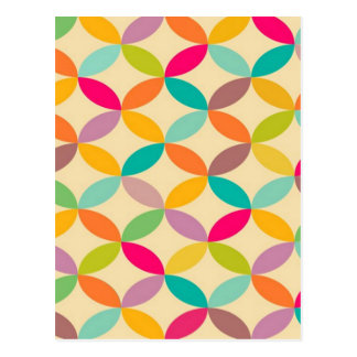 standard with geometric forms postcard