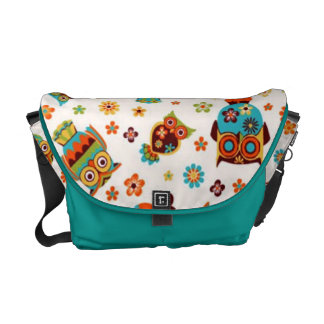 standard with owls courier bag