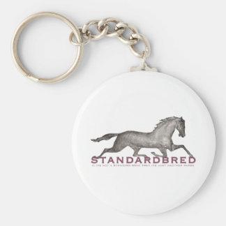 Standardbred Basic Round Button Key Ring