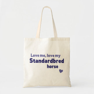 Standardbred horse budget tote bag