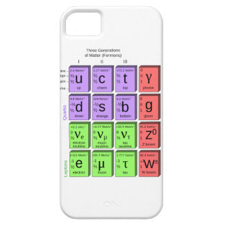 Standart model of elementary particles iPhone 5 cover