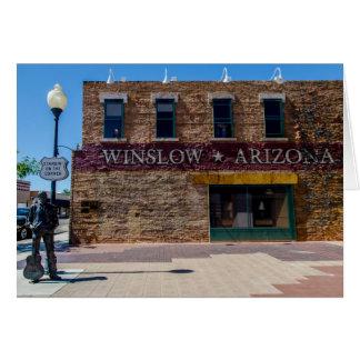 Standin' On The Corner in Winslow, AZ. Card