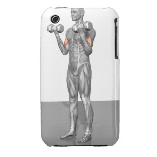 Standing Biceps Curl 2 iPhone 3 Case-Mate Cases