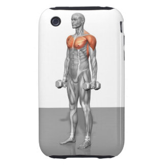 Standing Biceps Curl iPhone 3 Tough Case
