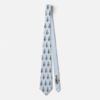 Standing Black and White Penguin Tie