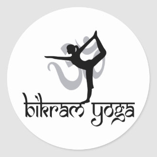 Standing Bow Pulling Pose Bikram Yoga Classic Round Sticker