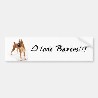Standing boxer bumper sticker